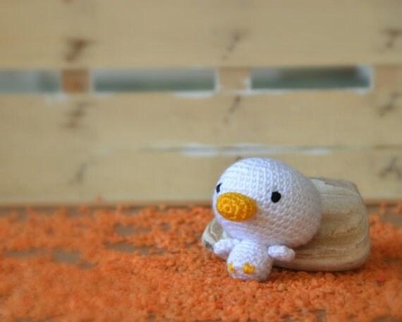 Amigurumi Baby Duck : Amigurumi crochet duck tiny doll
