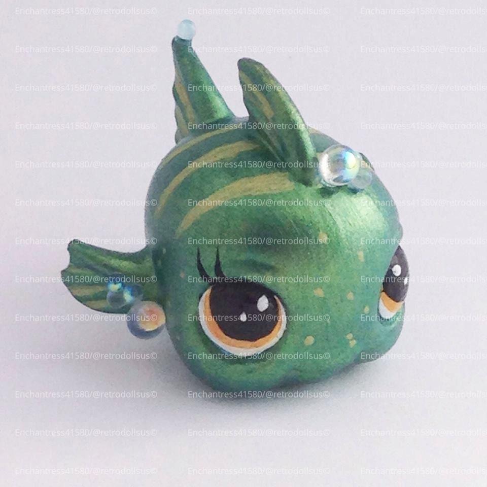 Littlest pet shop fish toy custom ooak lps for Fish pet shop