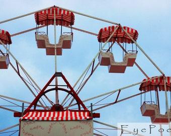 Vintage ferris wheel photograph 6x9 photo size 8x12 print 11x17 photography Europe