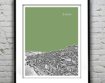 Porto Skyline Poster Art Print Portugal  Item T1341