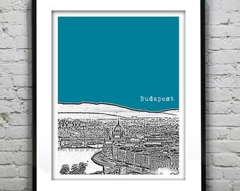 Budapest Hungary Poster City Skyline Art Print