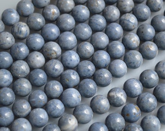Natural Color Blue Coral Round Beads  Size 9-10mm 16 Inch Approx. 44pc