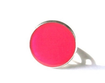 Fuschia PINK RING - Cerise ring - everyday ring - Crimson jewelry - Kawaii - Teen girl ring - Gift for girls - teen Jewelry - summer  ring