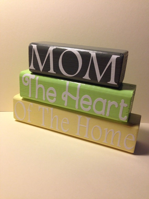Items Similar To Mom The Heart Of The Home Mini Wood