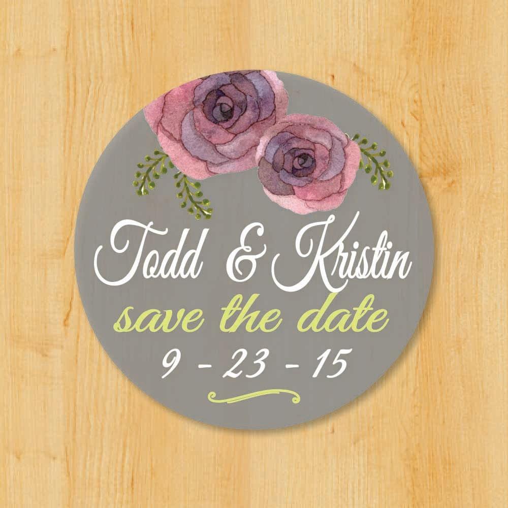 Round Wedding Invitation Label 1: Wedding Invitation Labels Bridal Shower Labels Save The