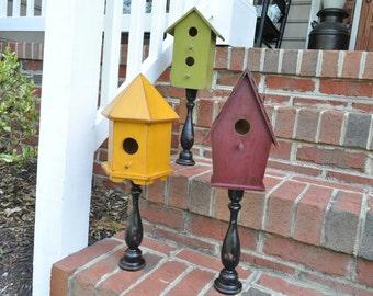 Rustic Bird Houses Set of Three