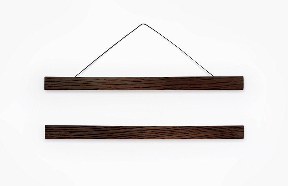 Wooden poster hanger dark wood frame DARKO