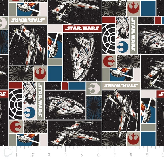 Star wars 3 rebel ships camelot fabrics fabric by the yard for Star wars fabric