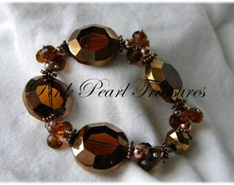 Downtown Brown stretch bracelet