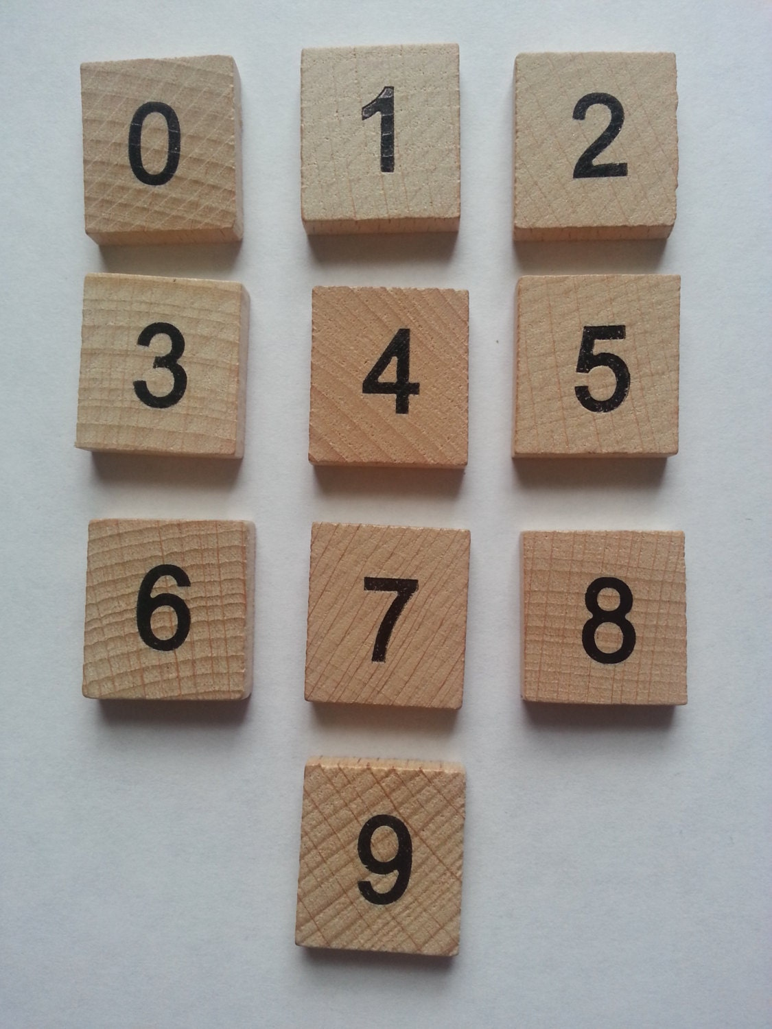 wooden scrabble tiles numbers 0 9 set word and frame art