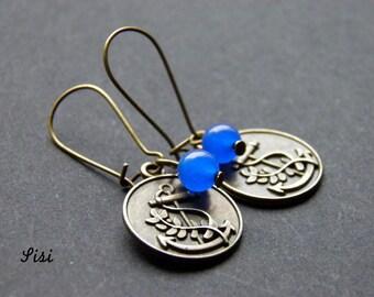 Pierced ears bronze medallion anchor