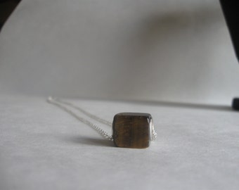 Necklace with Square Glass Bead