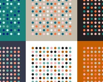 Cotton and Steel Homebody Mulit Dot Dottie Fabric Kimberly Kight BTY 1 Yd