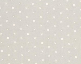 Cotton and Steel Basic Natural Cream Cross or Plus Sign Fabric BTY 1 Yd