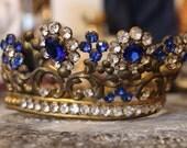 Antique French Crown / Antique Diadem / Vintage Tiara / Saint Crown