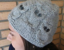 Popular items for cable stitch hat on Etsy