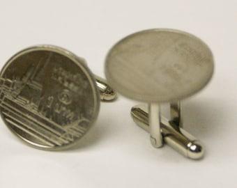 World Coin No. 5 Cufflinks Free gift bag