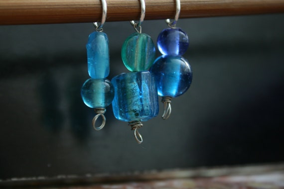 Handmade Stitch Markers In Blue