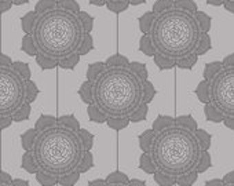 The Cottage Garden Wallpaper Gray by the Quilted Fish for Riley Blake