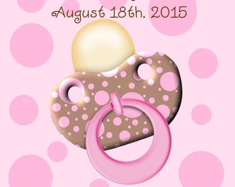 60 Pink and Brown Baby Shower Favor Tags