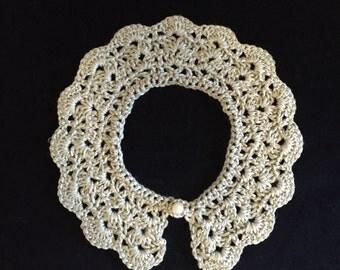 Peter Pan Girls Crochet Collar