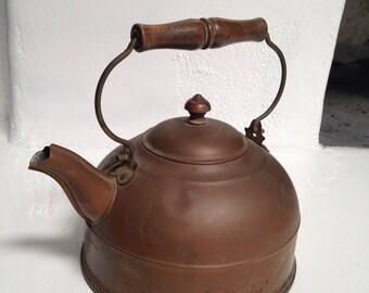 Vintage Copper Revereware Hot Water Kettle