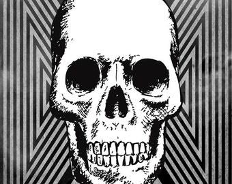 Tri Skull Fridge Magnet 7cm by 4.5cm,
