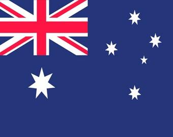 Australian Flag Fridge Magnet 7cm by 4.5cm,