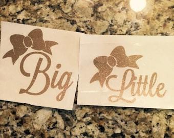 Big/Little bow sticker set