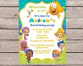Bubble Guppies Birthday Invitation, Bubble Guppies Birthday Invite, Bubble Guppies Invitation, Bubble Guppies Party, Boy, Bubble Gupppy