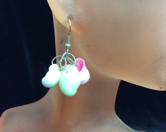 Vintage Dangling Sea Shell Earrings
