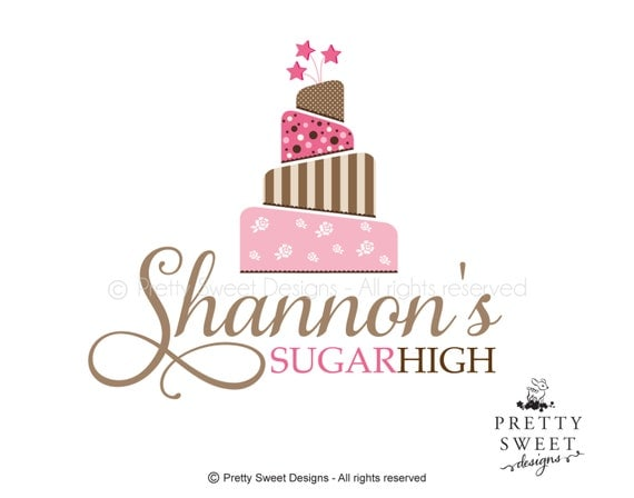 Items similar to Cake Logo Design For Bakery Or Wedding ...
