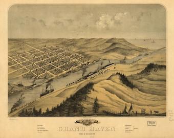 Grand Haven, Ottawa Co., Michigan 1868-Photo Print