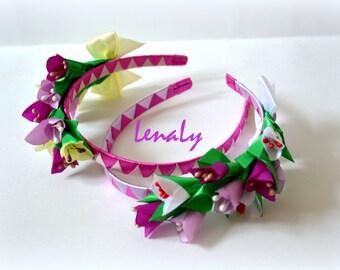 Headband of flowers kanzashi