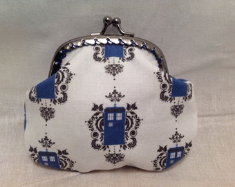 Dr Who Small Tardis Damask Coin Purse
