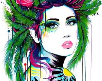 "Art Print ""Paradise Bird"""
