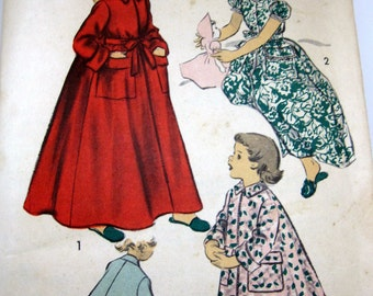 Group of  3 1940s Sewing Patterns for Girls' Size 8