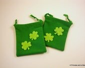 "Shamrock Love Small Drawstring Bags (Set of 2, 3"" x 4"")"