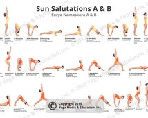 unique sun salutation related items  etsy