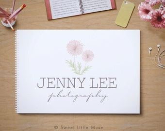 Watercolor Dandelion Logo - photography logo - logo and watermark