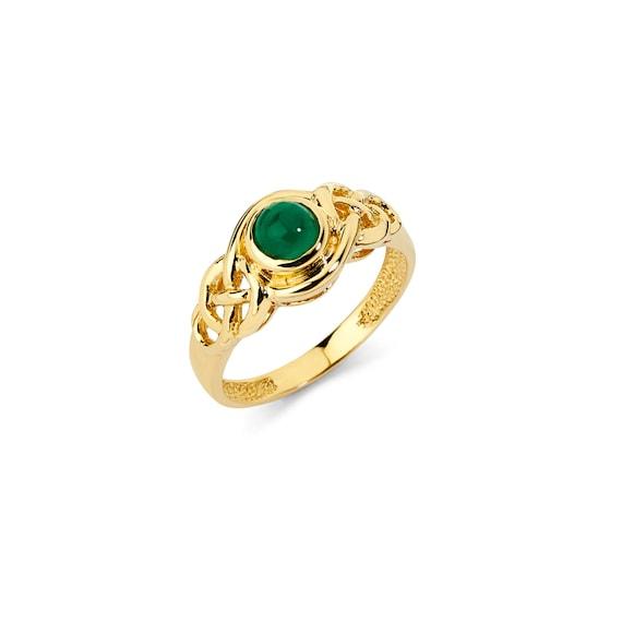 14K Gold Emerald Ring Emerald Ring Gold Ring Emerald