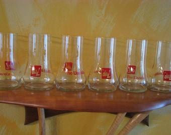 6 Vintage 7Up Uncola Glasses