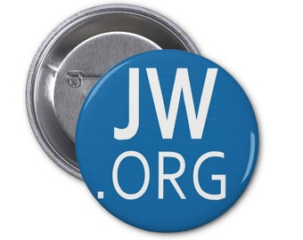 """JW.ORG Pinback Buttons or Fridge Magnets or Pocket Mirrors your choice of colors badges Jehovah Witness small 1.25"""" or large 2.25"""""""
