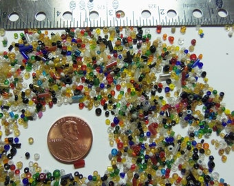 Bulk 3-6mm Glass Seed Beads MIXED Shapes & Sizes Crafter Mix 25k+ Beads 1 Pound