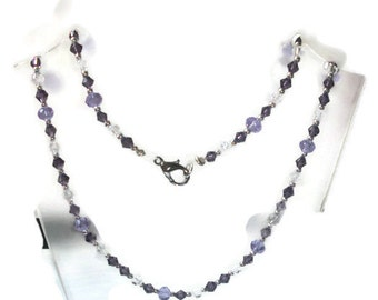 Purple and lavender beaded necklace