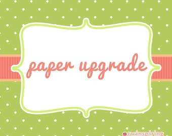 Card Stock Upgrade - 100# Matte, Linen, or Ice Pearl Card Stock