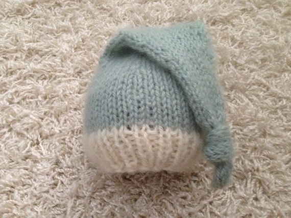 Knitting Pattern For Hat With Long Tail : Newborn knit long tail knotted beanie hat by Sheepcantknit