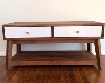 Mid Century Modern Bench With Storage / End Table /Sofa Table / Storage System