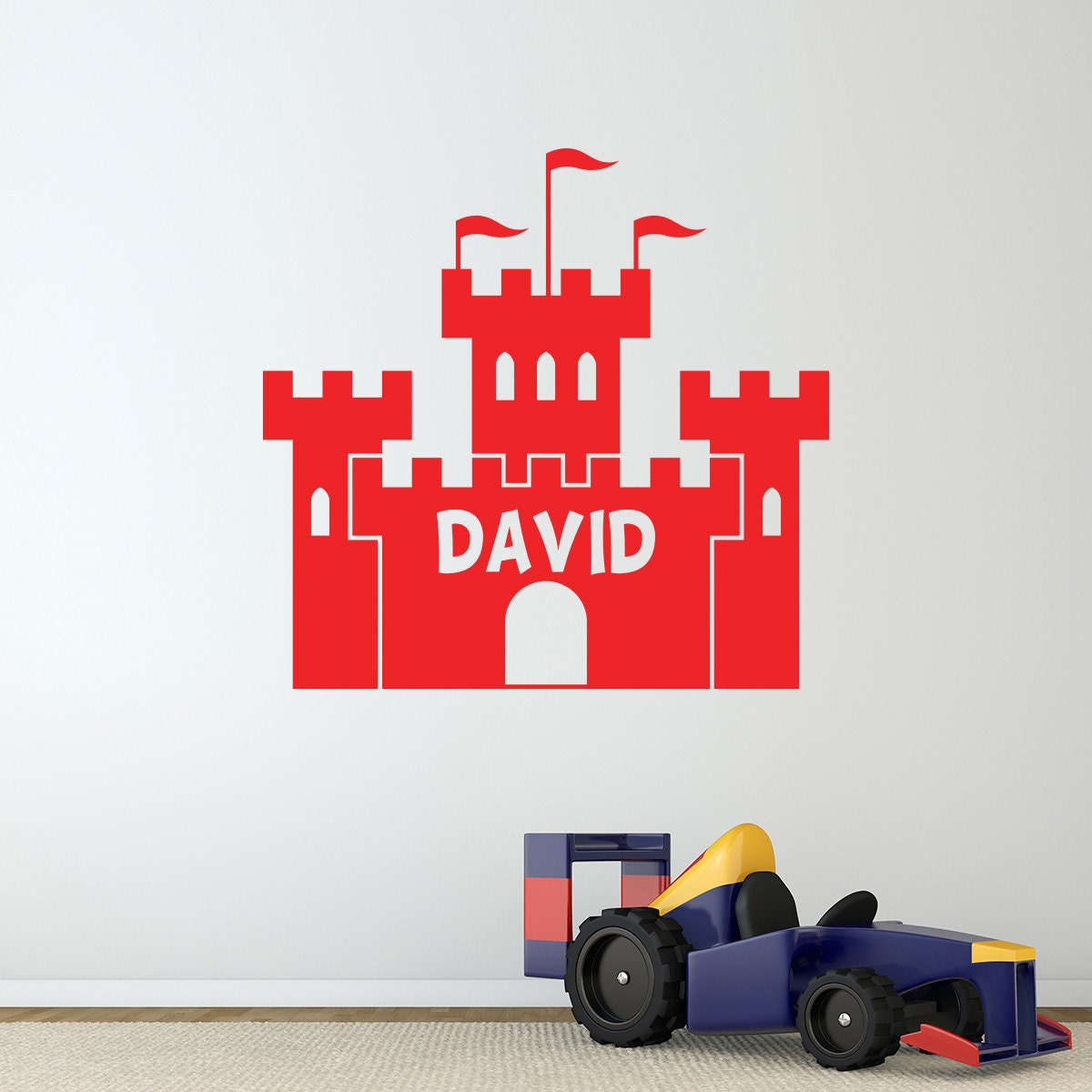 personalised castle wall sticker castle wall decal enchanted princess castle wall sticker window wall decal