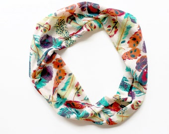 feather infitinity scarf, toddler infinity scarf, toddler scarf, toddler accessory, infinity toddler scarf, chiffon scarf, toddler accessory